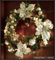 Old Christmas Wreath Makeover!  A definite improvement!