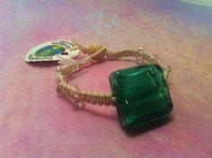 #Teal Bead #Macrame #Hemp #Bracelet 1567 by #HemptressDesigns on Etsy, $4.00 hemptressdesigns.com