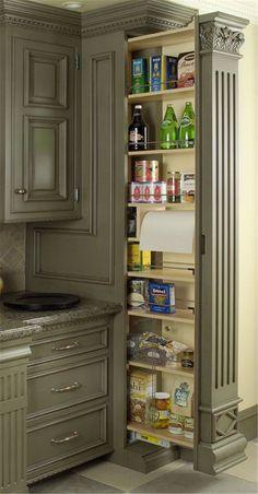 New Kitchen Pantry Storage Ideas Small 22 Ideas Kitchen Pantry Cabinets, Kitchen Redo, Kitchen Ideas, Kitchen Small, Pantry Ideas, Small Pantry, Kitchen Countertops, Soapstone Kitchen, Design Kitchen