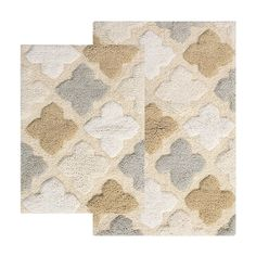 Add eccentric style to your bathroom with this Chesapeake Alloy Moroccan Tiles bath rug set. Large Rugs, Small Rugs, Eccentric Style, Moroccan Tiles, Cushion Fabric, Bath Rugs, Rectangle Shape, Mens Gift Sets, Pure Products