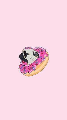 Wallpaper Pug, Wallpaper Fofos, Iphone Wallpaper Vsco, Walpaper Iphone, Pastel Wallpaper, Tumblr Wallpaper, Disney Wallpaper, Pug Tumblr, Tout Rose