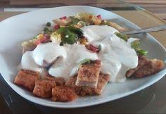 NOSALTY: Maradékmentő csirkés saláta Mashed Potatoes, Pudding, Ethnic Recipes, Food, Whipped Potatoes, Smash Potatoes, Custard Pudding, Essen, Puddings