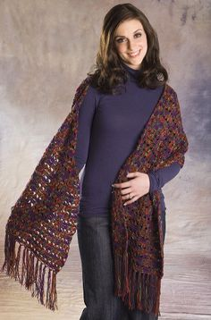 Crochet Lace Wrap-free pattern