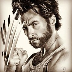 Wolverine is one of my all time favoutite characters, and Hugh Jackmans wolverine in the x-men movies was spot on. So i decided to do a graphite drawing. Hugh Jackman Wolverine drawing (no background) Wolverine Comics, Wolverine Tattoo, Marvel Comics, Logan Wolverine, Marvel Comic Universe, Marvel Art, Ms Marvel, Captain Marvel, Hugh Jackman