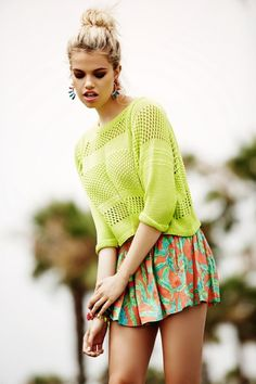 Hailey Clauson for Lovers   Friends Spring 2014 Collection Coachella Style #urbandecay