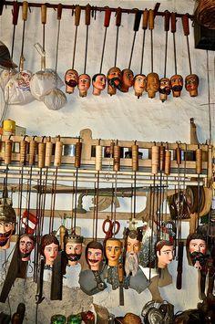 Pupi Siciliani (102)Puppet Workshop.. Palermo, Sicily, Italy