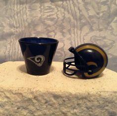 NFL MINI PLASTIC HELMET (2010) & NFL Plastic SHOT CUP (2009) St. Louis Rams #StLouisRams