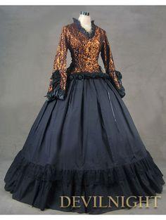 #Romantic Vintage Long Trumpet Sleeves #Gothic #Victorian Dress
