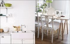 Kitchen white/wood