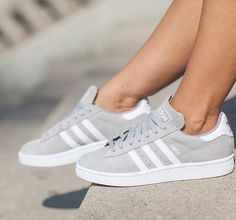 Adidas Women Shoes - I saw these ones and I know that it are adidas campus shoes but I can only find… ,Adidas Shoes Online, - We reveal the news in sneakers for spring summer 2017 Adidas Campus Shoes, Adidas Shoes Women, Nike Women, Gray Adidas Shoes, Adidas Casual Shoes, Gray Shoes, Pink Shoes, Sneakers Mode, Sneakers Adidas