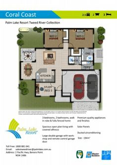 Tweed River - Villa - Palm Lake Resort  - Over 50s Living. Lifestyle Community. Retirement. Retirement Village. Holiday Every Day. Floor Plan