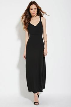Contemporary Lace-Up Maxi Dress