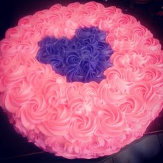 Pink and purple rosette