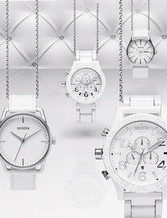 Relógios Nixon All White and Silver