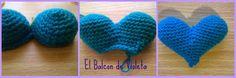 Como tejer paso a paso un corazon relleno al crochet...Patrones gratis :)