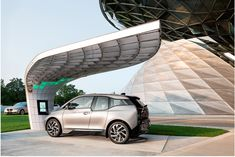 EIGHT installs point.one solar powered charging station for BMW i3 + i8 at BMW welt munich