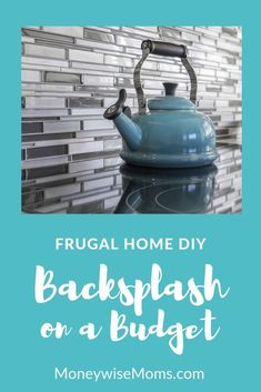 Tackle frugal home improvement and update your backsplash on a budget! Tips to help you save money Kitchen Sink Interior, White Kitchen Sink, Kitchen Decor, Cheap Diy Home Decor, New Carpet, Distressed Furniture, Painting Cabinets, Simple House, Home Improvement Projects