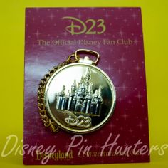 D23 Gold Pocket Watch Member Exclusive Disney Pin w/ Mickey Mouse DLR