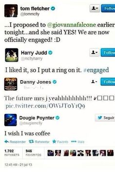 3/4 of McFly are growing up, but Dougie is always Dougie