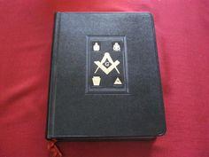 1 of 10: Holy Bible Masonic Edition AJ Holman 1958 Freemasonry Black Leather Gold Edges