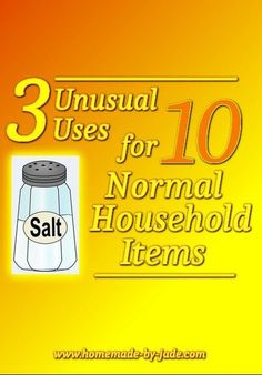 3 Unusual Uses for 10 Normal Household Items - Homemade by Jade Chest Rub, Oven Cleaner, Old Mirrors, How To Iron Clothes, Shower Cap, Mold And Mildew, Bumper Stickers, Household Items, Jade