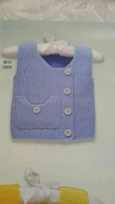 This Pin was discovered by İcl Baby Knitting Patterns, Arm Knitting, Knitting For Kids, Baby Boy Vest, Baby Boys, Crochet Baby, Knit Crochet, Baby Pullover, Knit Vest
