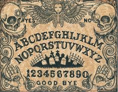 Angel of Death Ouija Board by ShayneoftheDead Angel Of Death, Creepy, Scary, Witch Board, Fete Halloween, Halloween Doodle, Glass Cutting Board, My New Room, Pyrography