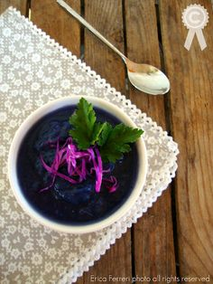 Purple cabbage cream - Crema di verza viola