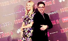 When they struck a pose together on the red carpet: | Robert Downey Jr. And Gwyneth Paltrow's Most Adorable Moments