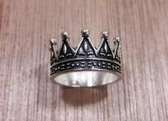 Crown Ring size 10 Silver Thumb Rings Steampunk Mens Rings King by AlphaVariable on Etsy https://www.etsy.com/listing/249213717/crown-ring-size-10-silver-thumb-rings