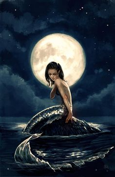 AFFBooks | Swim with Mermaids | Mermaid in the Moonlight | Stephanie Hans