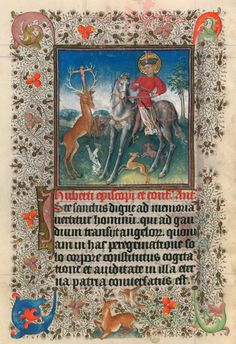 Conversion of St. Hubert | Hours of Catherine of Cleves | Illuminated by the Master of Catherine of Cleves | ca. 1440 | The Morgan Library & Museum