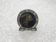 Vintage American Horse Association, est. 1917 Tack Pin, round, Silvertone #Unbranded