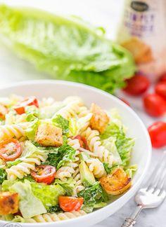 Pasta & Avocado Caesar Salad Recipe