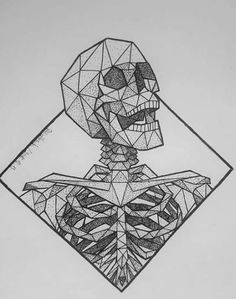 ideas tattoo geometric diamond ink for 2019 tattoo tattoo tattoo tattoo tattoo tattoo tattoo ideas designs ideas ideas in memory of ideas unique.diy tattoo permanent old school sketches tattoos tattoo Sharpie Drawings, Skeleton Drawings, Skeleton Art, Cool Drawings, Sharpie Art, Pencil Art Drawings, Desenhos Old School, Arte Sketchbook, Geometric Drawing