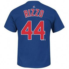 oversizeBig & Tall Majestic Chicago Cubs Anthony Rizzo Name and Number Tee, Men's, Size: XLT, Blue Cubs Gear, Cubs Players, Sports Fan Shop, Chicago Cubs, A Team, Mens Tops, T Shirt, Basketball Hoop, Basketball Tickets