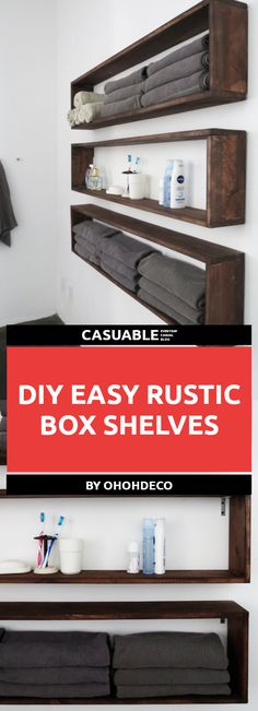 Rustic DIY Shelves That Are Super Easy To Make And Look Amazing. Perfect  Shelves To