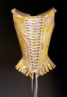 Corset [Italian] By the 1770s, steel was being used in stays, which increased their strength, though not their flexibility. With the tight lacing made possible by stronger stays, doctors and others voiced health concerns.