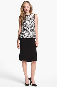 """Wait for a sale! But I love to say B """"summerized"""". Vince Camuto Garden Print Peplum Blouse 