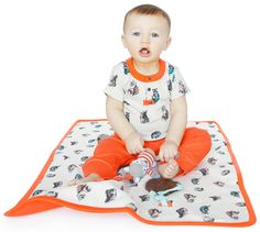 Diaper Change Soft Cotton Padded Baby Play Mat Crawling Blanket For Tummy Time