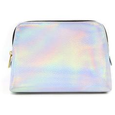 Forever21 Metallic Makeup Bag (225 UYU) ❤ liked on Polyvore featuring beauty products, beauty accessories, bags & cases, bags, filler, silver, make up bag, forever 21, makeup bag case and purse makeup bag