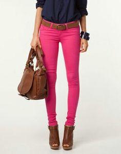 Pantalon fucsia look