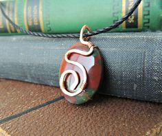 Bloodstone+Copper necklace