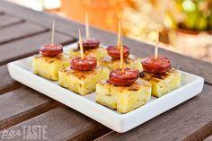 Spanish Tortilla Bites with Chorizo - Spanish Recipes by ParTASTE