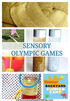 Sensory Olympic Games Summer Camp At Home Ideas Sensory Olympic Games for a Sensory Backyard Summer Camp theme. Kids Olympics, Special Olympics, Summer Olympics, Olympic Games For Kids, Olympic Games Sports, Olympic Gymnastics, Gymnastics Quotes, Gymnastics Problems, Tumbling Gymnastics