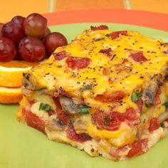 Bacon, Tomato and Cheese Strata