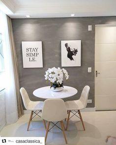 Kitnet & Studio Decoration: Designs & Photos - Home Fashion Trend Apartment Interior, Interior Design Living Room, Living Room Decor, Dining Room, Home And Deco, Minimalist Home, Home Decor Inspiration, Home And Living, House Design