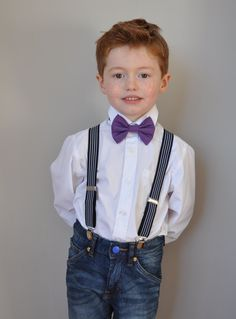 Bow tie style wedding ideas pageboy cool https://www.etsy.com/uk/listing/257583272/boys-bowtie-in-purple-with-grey-neck