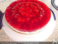 Joghurt sahne torte mit frischen fruchten