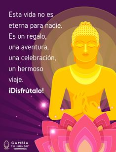 Esta vida no es esterna para nadie. Es un regalo, una aventura, una celebración, un hermoso viaje ¡Disfrútalo! Spiritual Messages, Spiritual Life, Spiritual Awakening, Yoga Mantras, Meditation Quotes, Positive Mind, Positive Quotes, Buda Quotes, Law Of Attraction Meditation